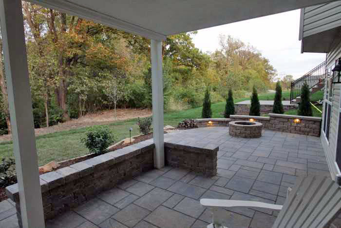 brick patio and firepit tri county hardscape group