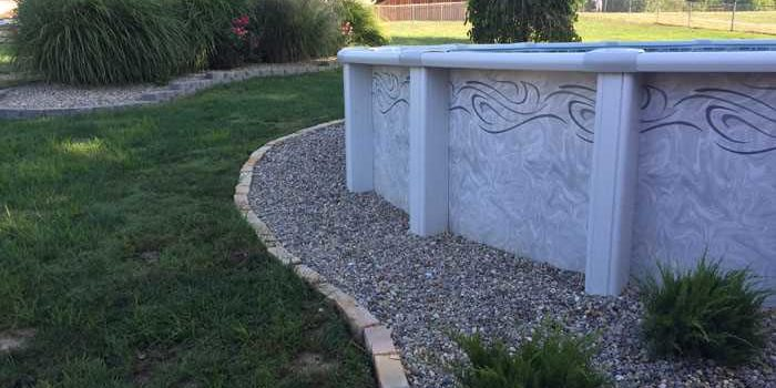 Landscaping Around Above Ground Pool Tri County Hardscape Group